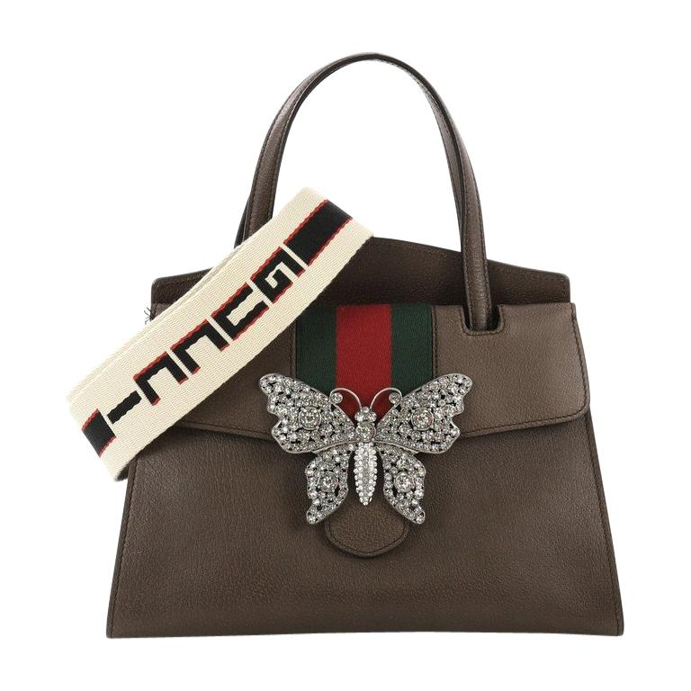 75cb334a825 Gucci Totem Top Handle Bag Leather Medium For Sale at 1stdibs