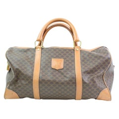 Céline Macadam Boston Monogram Duffle 866475 Brown Canvas Weekend/Travel Bag