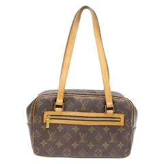 Louis Vuitton Monogram Cite 866489 Brown Coated Canvas Shoulder Bag