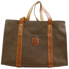 Céline Macadam Monogram 866497 Brown Coated Canvas Tote