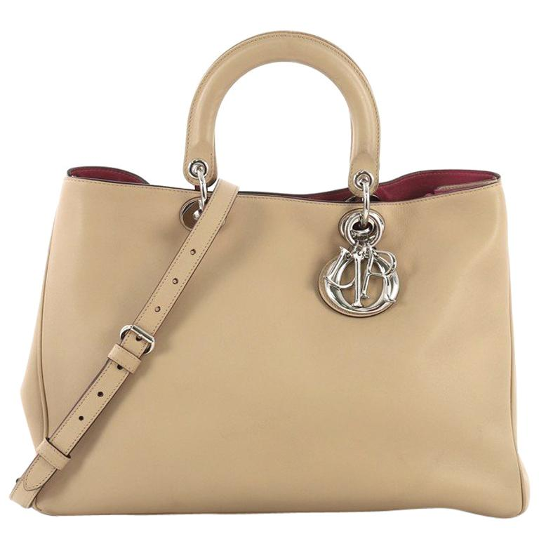 f19c4154d Christian Dior Diorissimo Tote Smooth Calfskin Large For Sale at 1stdibs