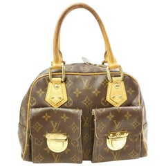 Louis Vuitton Manhattan Monogram Pm 866521 Brown Coated Canvas Satchel