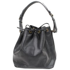 Louis Vuitton Petit Noe 866536 Black Leather Hobo Bag