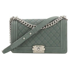 Chanel Boy Flap Bag Quilted Matte Caviar Old Medium