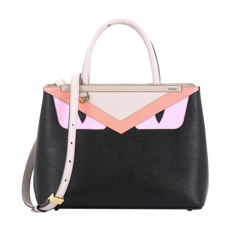 d09e9c80f9b7 Fendi 2Jours Monster Handbag Calfskin Petite For Sale at 1stdibs