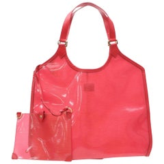 Louis Vuitton Plage Baia Lagoon with Pouch 866325 Red Leather Tote