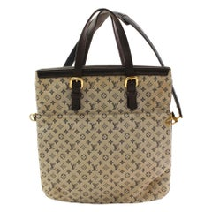 Louis Vuitton Francoise Monogram Mini Lin 2way 866335 Baige Canvas Tote