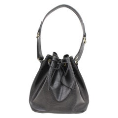 Louis Vuitton Petit Noe 866343 Black Leather Shoulder Bag
