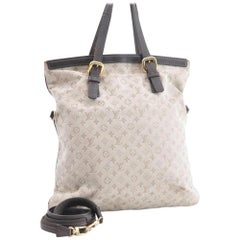Louis Vuitton Francoise Monogram Mini Lin 2way 866360 Khaki Coated Canvas Tote