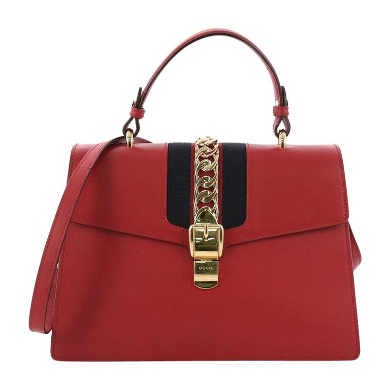 3020dc876 Gucci Sylvie Top Handle Bag Leather Medium For Sale at 1stdibs