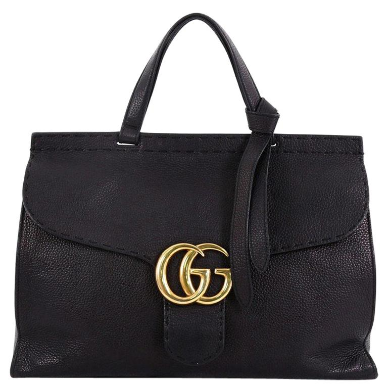 192fcb3c8f4 Gucci GG Marmont Top Handle Bag Leather Medium For Sale at 1stdibs