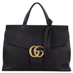 49a5caef2ad Gucci GG Marmont Top Handle Bag Leather Medium