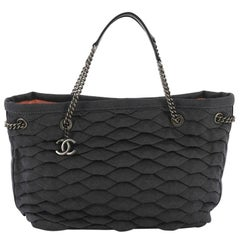 Chanel CC Shopping Tote Scale Effect Denim Medium