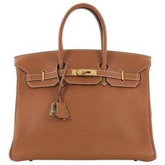 33b18ebeed4 Hermes Birkin Handbag Gold Togo with Gold Hardware 35