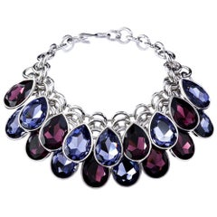 Simon Harrison Aquitaine Crystal Pear Drop Necklace