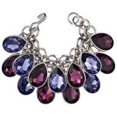 Simon Harrison Aquitaine Crystal Pear Drop Bracelet
