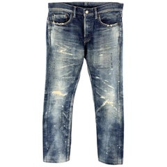 FABRIC BRAND & Co. Size 30 x 32 Indigo Washed Cotton Button Fly Jeans