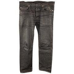 DIOR HOMME Size 31 x 30 Black Wash Denim Button Fly Jeans