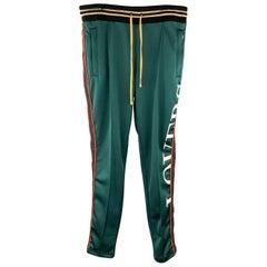 AMIRI Size L Green Solid Polyester Drawstring Track / Sweat Pants