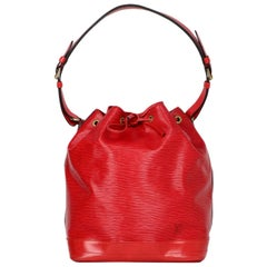 Louis Vuitton Red Epi Leather Noe GM Bucket Bag