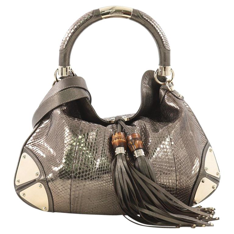 3169b836d6e5 Gucci Indy Hobo Python Medium For Sale at 1stdibs