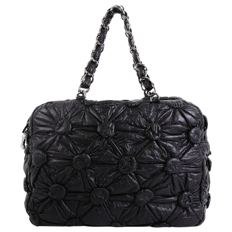 1e36c6bb3d1e Chanel Lemarie Bowler Bag Draped Lambskin Medium For Sale at 1stdibs