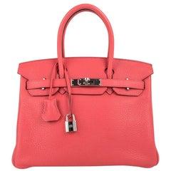 Hermes Birkin 30 Bag Rose Jaipur Palladium Hardware