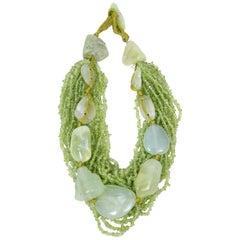 Monies Green Stone Necklace