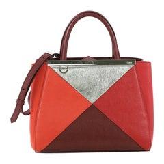 Fendi Multicolor 2Jours Handbag Leather Petite