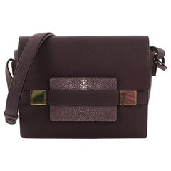Delvaux Madame Shoulder Bag Leather with Stingray PM