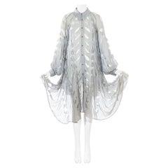 Vivienne Westwood 'Cut, Slash & Pull' blue voile oversized shirt dress, ss 1991