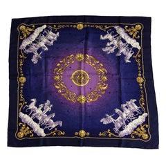 Hermes Cosmos Silk Twill Scarf Shawl by Philippe Ledoux 90cm
