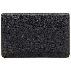 YSL Black  Leather Card Holder France