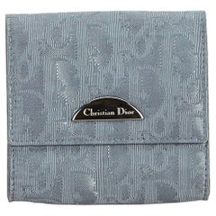 Dior Gray Nylon Fabric Oblique Coin Pouch France w/ Box