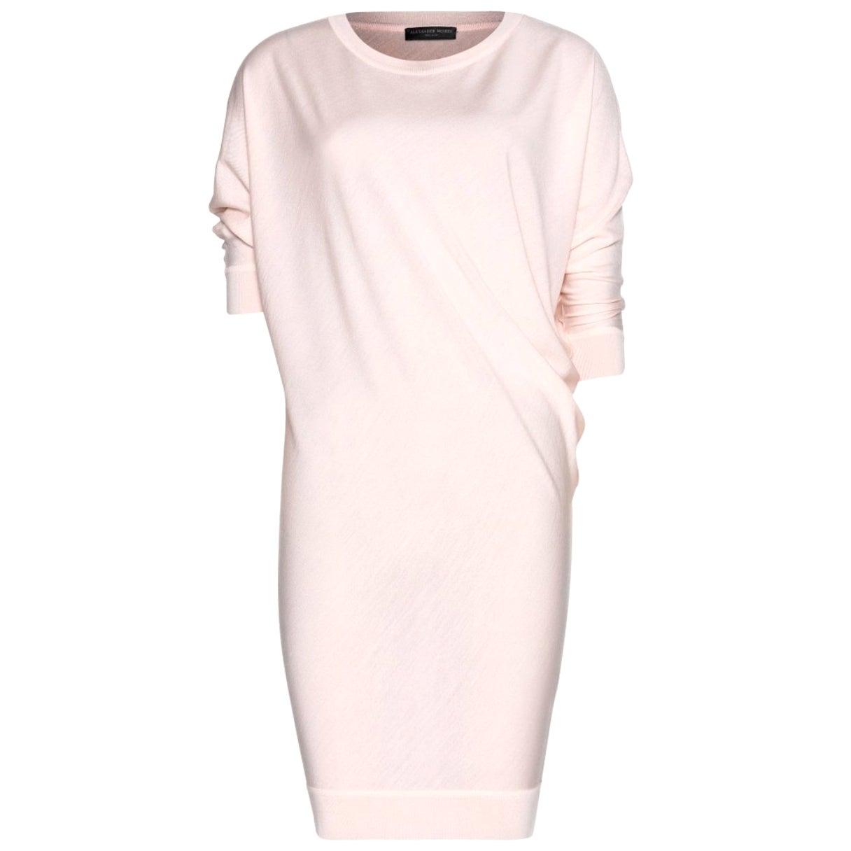 Alexander McQueen Asymmetric Wool Sweater Mini Dress