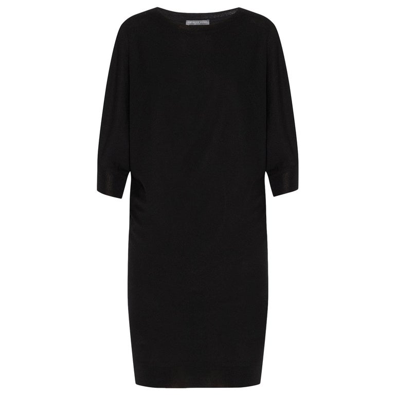 Alexander McQueen Asymmetric Wool Sweater Mini Dress  For Sale