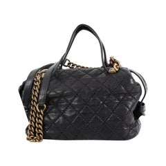 Chanel Chain Bowling Bag Quilted Calfskin Medium