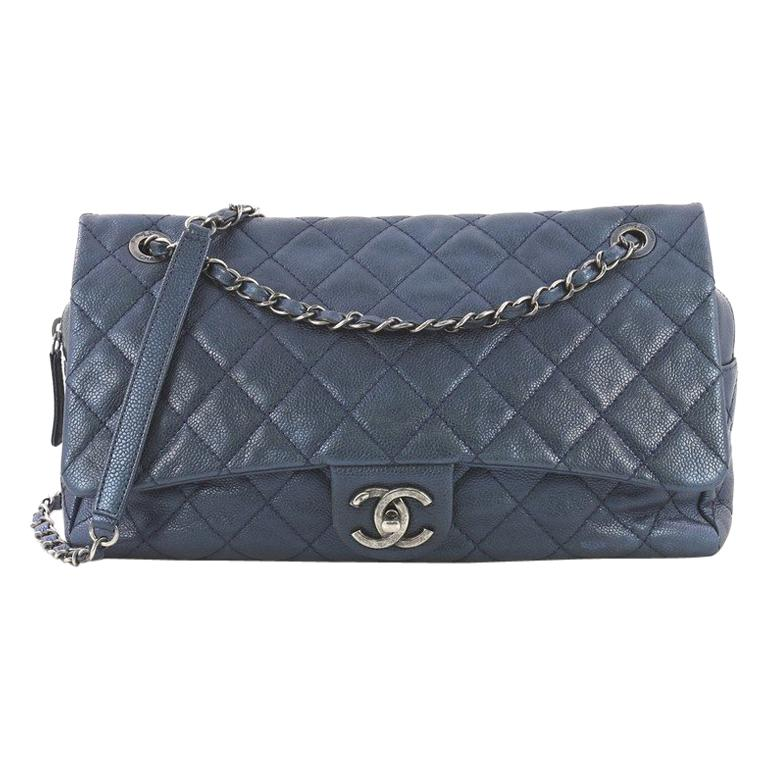 4cc6c6f63412 Chanel Easy Flap Bag Quilted Caviar Jumbo For Sale at 1stdibs