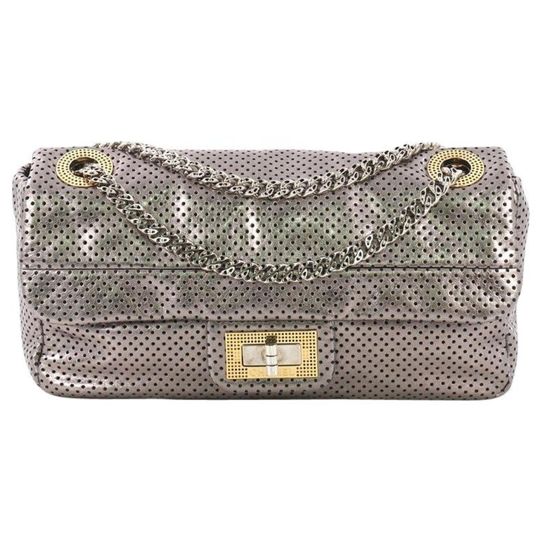 b2f84ed2b8d953 Chanel Drill Flap Bag Perforated Leather Medium For Sale at 1stdibs