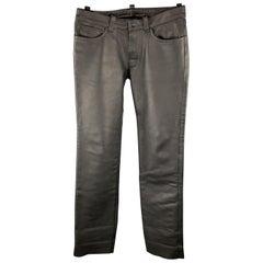 MR. S LEATHER Size 35 x 36 Black Leather Jean Cut Pants