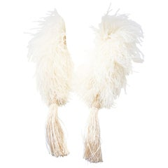 Marabou Scarf with Tassels