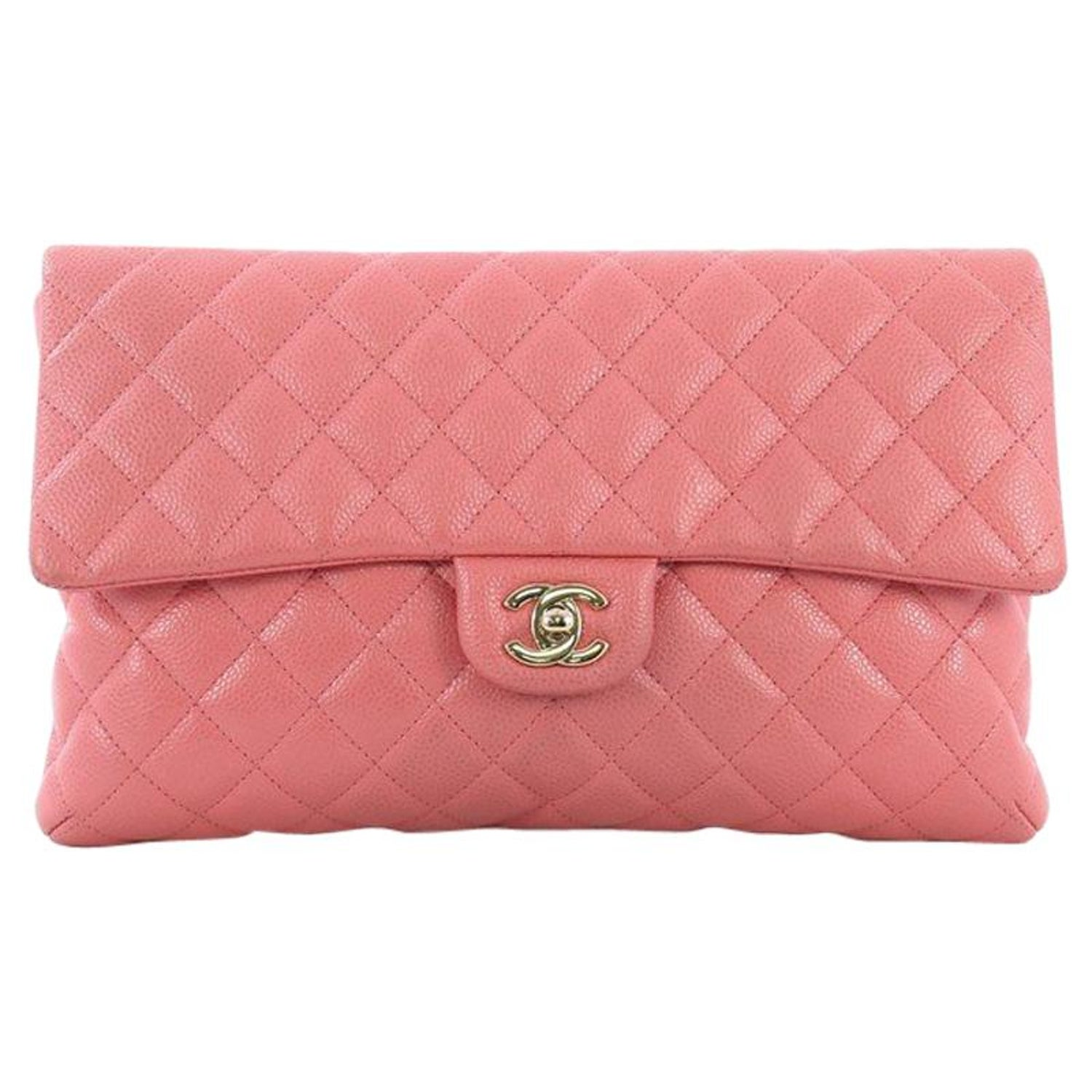 e0e3f2105f66da Chanel Classic Flap Clutch Quilted Caviar at 1stdibs