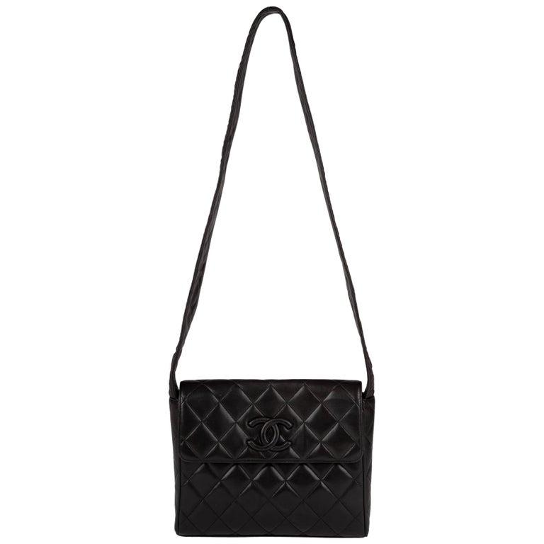 76bff3e33d26 Chanel Black Lambskin Leather Shoulder Bag For Sale. Chanel vintage handbag  with black quilted ...