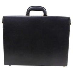 Gucci Attache Briefcase 866215 Black Leather Laptop Bag