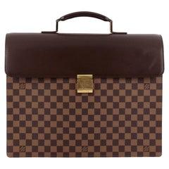 Louis Vuitton Altona  Attache Briefcase 866270 Brown Coated Canvas Laptop Bag