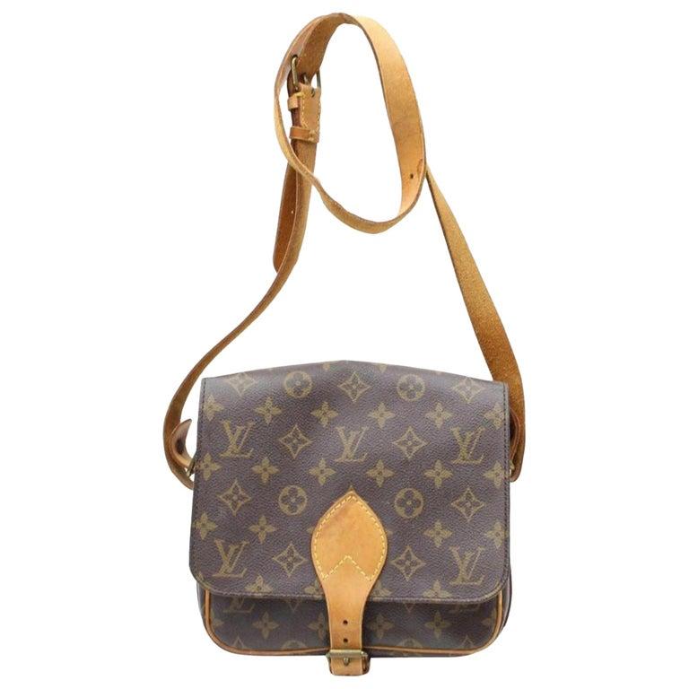 ffa9d52971d6 Louis Vuitton Cartouchiere Monogram Mm 866299 Brown Coated Canvas Cross  Body Bag For Sale