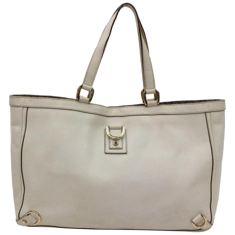 e6a81512c4df Gucci Abbey D-ring Tote 866181 Grey Leather Shoulder Bag For Sale at ...