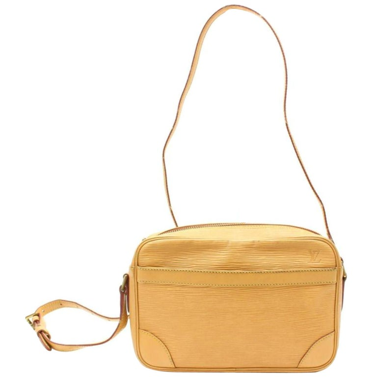 f689d8c59207 Louis Vuitton Trocadero Beige Epi 865885 Yellow Leather Cross Body Bag For  Sale