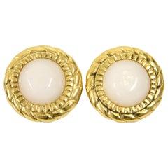 Chanel Gold Metal Vintage Earrings, 2000s