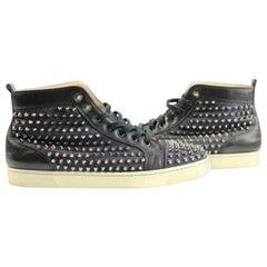 094953fa2285 Christian Louboutin Denim Blue Rare Louis Flat Jean 44 Lmcl04 66cla812  Sneakers